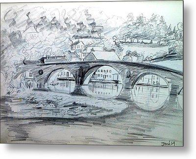 Graignamanagh Bridge River Barrow  Kilkenny Ireland  Metal Print