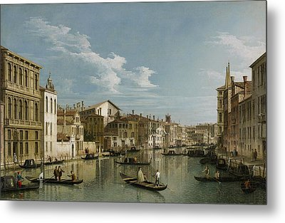 Grand Canal From Palazzo Flangini To Palazzo Bembo Metal Print by Canaletto