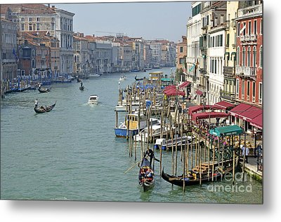 Grand Canal Viewed From Rialto Bridge Metal Print