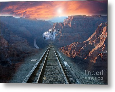 Metal Print featuring the photograph Grand Canyon Collage by Gunter Nezhoda