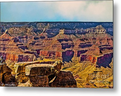 Grand Canyon Mather Viewpoint Metal Print by Bob and Nadine Johnston