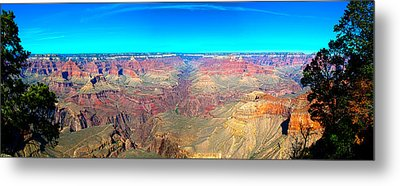 Metal Print featuring the photograph Grand Canyon Panorama by Penny Lisowski