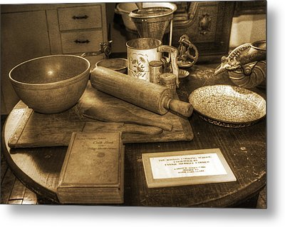Grandma's Kitchen Table Metal Print by David Simons