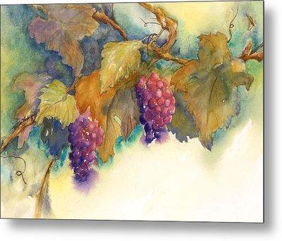 Grapes Metal Print by Hilda Vandergriff