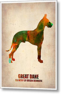 Great Dane Poster Metal Print by Naxart Studio