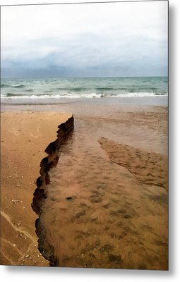 Great Lakes Shoreline Metal Print by Michelle Calkins
