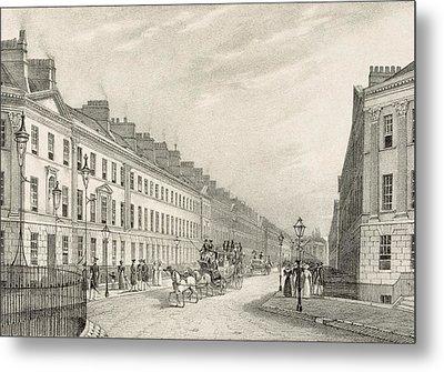 Great Pultney Street, Bath, C.1883 Metal Print by R. Woodroffe