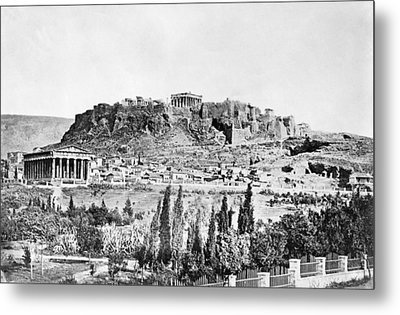 Greece Acropolis Metal Print