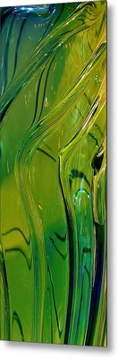 Green Abstract Metal Print by Bruce Bley