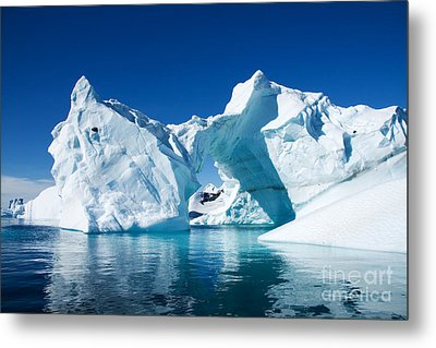 Greenland Iceberg Metal Print by Boon Mee