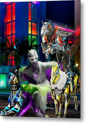 Greyhound Princesse Metal Print