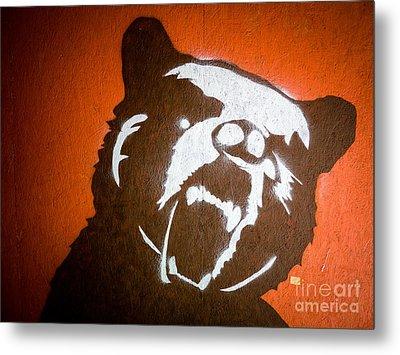 Grizzly Bear Graffiti Metal Print by Edward Fielding