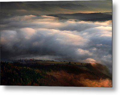Metal Print featuring the photograph Ground Clouds by Graham Hawcroft pixsellpix