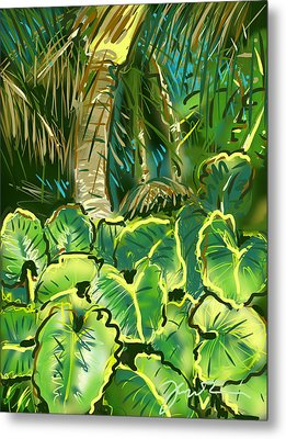 Metal Print featuring the painting Guanabana Tropical by Jean Pacheco Ravinski