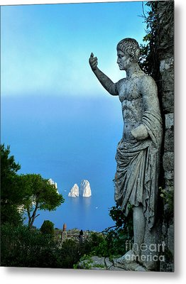 Metal Print featuring the photograph Guarding The Water by Mike Ste Marie