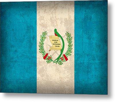 Guatemala Flag Vintage Distressed Finish Metal Print by Design Turnpike