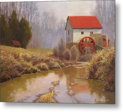 Guilford Mill En Plein Air Metal Print by Jeremy Sams