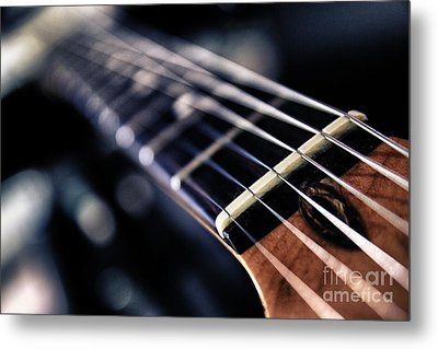 Guitar Strings Metal Print by Stelios Kleanthous