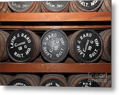 Gun Powder Room At San Francisco Fort Point 5d21511 Metal Print by Wingsdomain Art and Photography