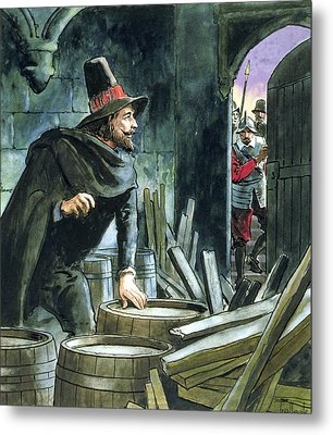 Guy Fawkes, From Peeps Into The Past Metal Print by Trelleek