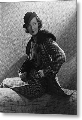 Gwili Andre Wearing Yvonne Carette Metal Print by Edward Steichen