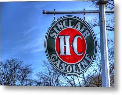 H-c Sinclair Gasoline Metal Print by David Simons