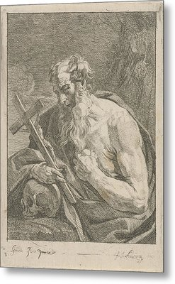 H. Jerome With A Crucifix, Francois Joseph Lonsing Metal Print by Artokoloro