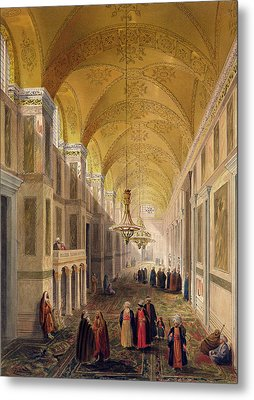 Haghia Sophia, Plate 2 The Narthex Metal Print by Gaspard Fossati