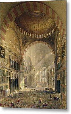 Haghia Sophia, Plate 24 Interior Metal Print by Gaspard Fossati