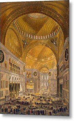 Hagia Sophia, Constantinople, 1852 Metal Print by Gaspard Fossati
