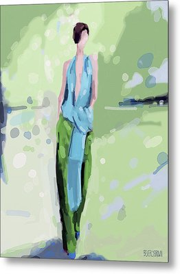 Haider Ackermann Fashion Illustration Art Print Metal Print