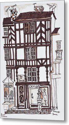 Half-timbered Style Building Metal Print