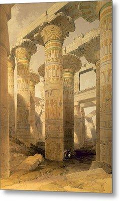 Hall Of Columns, Karnak, From Egypt Metal Print by David Roberts