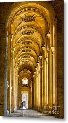 Hallway At The Louvre In Paris Metal Print