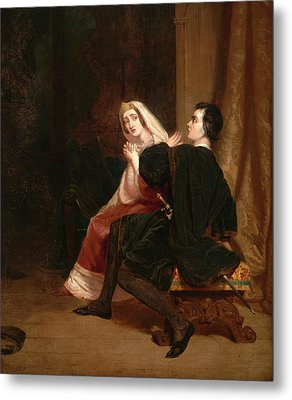 Hamlet And His Mother The Closet Scene Dated In Red Paint Metal Print