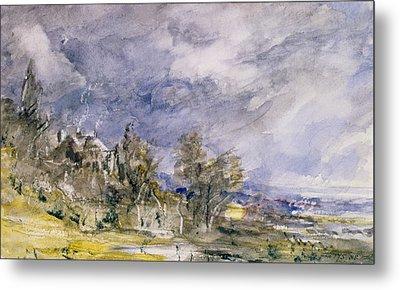 Hampstead Heath From Near Well Walk Metal Print by John Constable