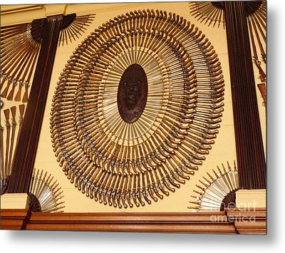 Hampton Court Weaponry Metal Print by Deborah Smolinske