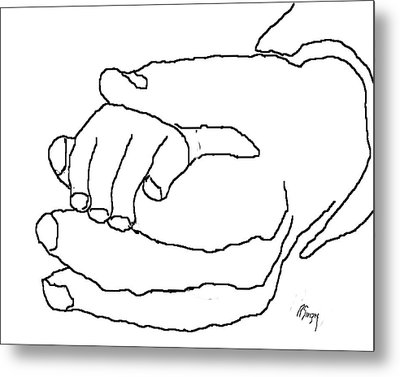 Hand In Hand Metal Print by R  Allen Swezey