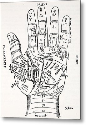 Hand With Symbols, Septentrion, Oriens Metal Print