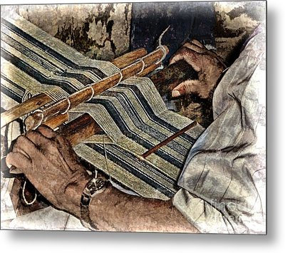 Hands Of The Weaver Metal Print by Julia Springer