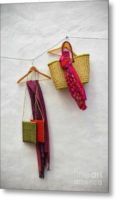 Hanging Handicraft  Metal Print by Carlos Caetano