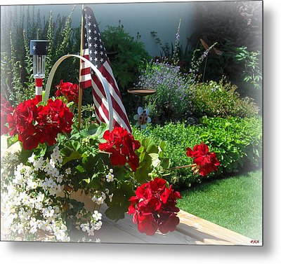 Happy 4th Flowers Metal Print by Heidi Manly