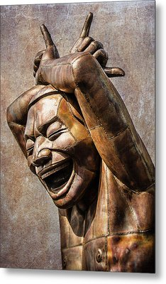 Happy Sculpture Metal Print by Marion McCristall