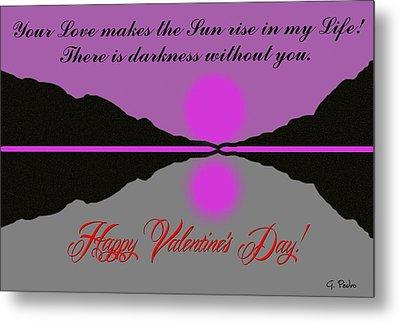 Happy Valentine's Day Metal Print by George Pedro