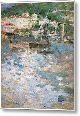 Harbor At Nice Metal Print by Berthe Morisot