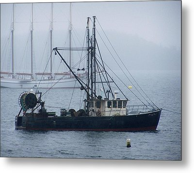 Metal Print featuring the photograph Harbor Ships by Gene Cyr