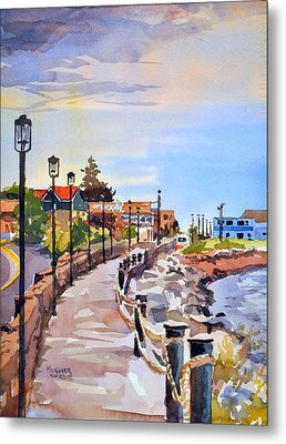 Harbor Walk Metal Print by Spencer Meagher