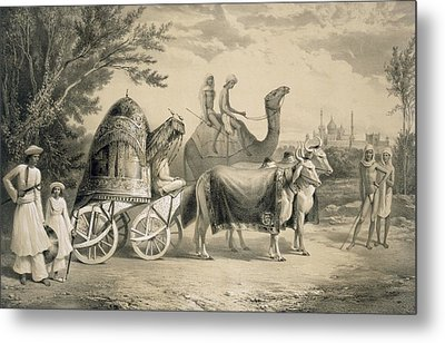 Harem Carriage Of The King Of Delhi Metal Print by A. Soltykoff