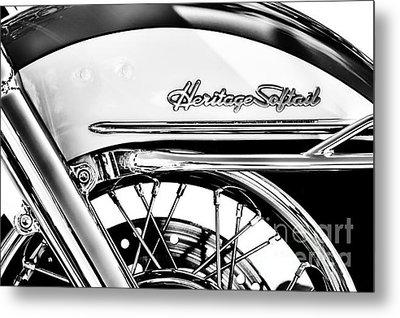 Harley Heritage Softail Monochrome Metal Print