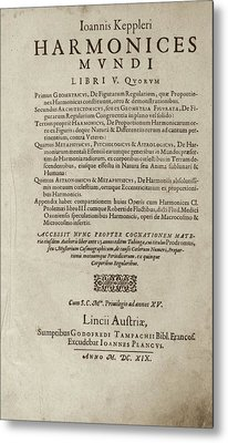 'harmonices Mundi' (1619) Metal Print by Library Of Congress
